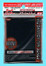 50 KMC MINI SUPER BLACK Small Card Barrier Sleeves NEW Deck Protector Yugioh