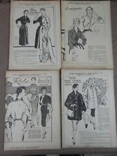 4 PATRONS MODE ECHO FEMMES D AUJOURD HUI / PATTERNS FASHION EMBROIDERY 1955 (16)