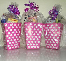 Girls Pink Polka Dot Empty Party Bags, Cellophane Bags and Ribbon, Fill Your Own