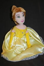 "DISNEY PRINCESS BELLE 13"" 2010 SATIN YELLOW DRESS Plush Stuffed Animal Lovey Toy"