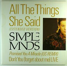"""12"""" Maxi - Simple Minds - All The Things / Promised You / Don't You  - M739"""