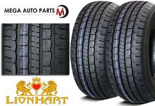 2 New Lionhart LH-HTP P245/70R16 107T Premium All Season Light Truck Tires