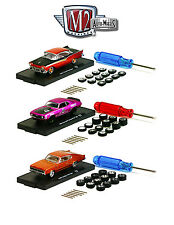 AUTO WHEELS 3 CARS SET RELEASE 2 WITH TIRES AND TOOL 1/64 M2 MACHINES 34001-02