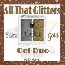 Napoleon Perdis NP Set ALL THAT GLITTERS GEL DUO Silver Gold