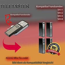 Handsender für TELETASTER Garagentorantriebe 433,92 MHz SKX2,SKX4 Funksender