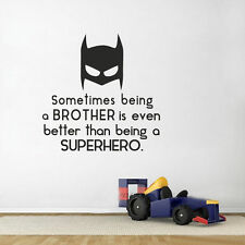Batman Superhero Bruder Spruch Wandtattoo Wallpaper Wand Schmuck 50 x 36 cm