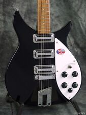 NEW RICKENBACKER 350V63 LIVERPOOL JETGLO BLACK RIC 6 STRING GUITAR CASE 350 V 63