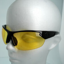 HD Driving YELLOW NIGHT Sports Sunglasses Golf Vision Lens High Definition Wrap