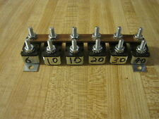 VINTAGE DASH GAUGE LIGHT SWITCH PROTECTION CIRCUIT BREAKER SET  SCTA  RAT ROD