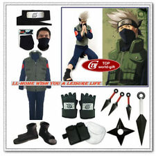Naruto Hatake Kakashi Cosplay Costume Whole set uniform Set of 12