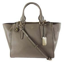 COACH 33545 CROSBY Carryall Fog Tone Smooth Leather Shoulder Bag $395