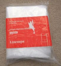 "Linenspa 2-Pack Mattress Move/Storage Bag Full/Queen 76"" x 96"" Clear"