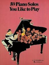 59 Piano Solos You Like to Play (1986, Paperback)