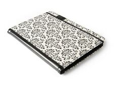 """NEW Verso Versailles 10"""" iPad 2/3/4-Galaxy Tab 2 Tablet Cover Damask Black/White"""