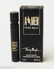 THIERRY MUGLER A MEN PURE MALT EDT .04oz 1.2ml COLOGNE SPRAY SAMPLE VIAL X 1