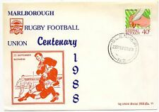 New Zealand # 899 - Marlborough Rugby Football Union Centenary 1988 Event Cover