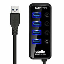 USB 3.0 Hub, Atolla 4 Ports Super Speed USB 3 Hub Splitter With On Off Switch 1