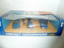 Solido France 1:43 Coffret Gendarmerie Gift Set Cars + Helicopter mint boxed