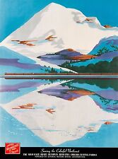 Serving the Colorful Northwest Vintage Railroad Travel Advertisement Poster