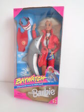 "Bambola BARBIE BAYWATCH 11"" (bionda) con delfino e accessori - 1994-Nuovo in Scatola"