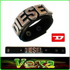 New DIESEL Luxury Genuine Leather Bracelet Black Bangle Wristband Men Surf BD25