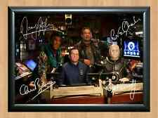 Red Dwarf Cast Craig Charles Chris Barrie Signed Autographed A4 Print Poster TV