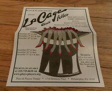 Plays & Players La Cage Aux Folles Delancey Place Philadelphia Glossy Show ad