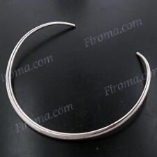 """18"""" 6MM STERLING SILVER TUBE COLLAR TORQUE choker NECKLACE"""