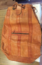 Vintage Leather Mail Bag-Hand Made in Columbia - With Drawstring