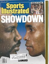 SPORTS ILLUSTRATED - WITH HAGLER and LEONARD ON THE COVER - FROM MARCH 30, 1987