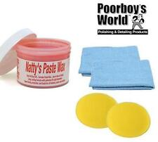 Poorboys World Nattys Paste Wax Carnauba Natty's Red 8oz + 2 Free Cloths & Pads