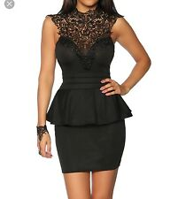Black Peplum Dress From Nastygal Size Small
