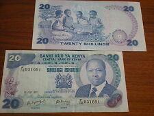 Kenia  -  20  Shilling  #21  unc.