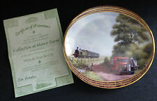 DAVENPORT When the Train went By Collector Plate - Collection at Manor Farm