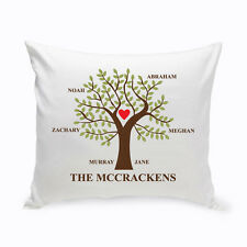 Traditional Family Tree Personalized Throw Pillow House Warming Wedding Gift