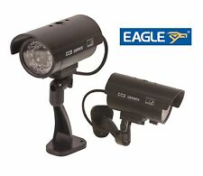 Eagle Dummy Fake Outdoor Indoor CCTV Security Camera Led Nightcam Genuine Look