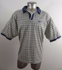 Nike Golf men's athletic polo shirt blue & yellow checkered XXL