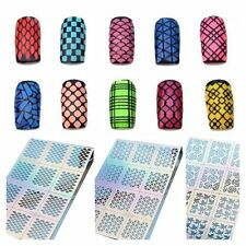 12Tips/Sheet  Design Manicure Stencil Nail Vinyls Nail Art Stickers Stamping
