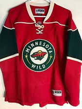 Reebok Women's Premier NHL Jersey MINNESOTA Wild Team Red sz L