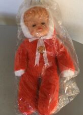 VINTAGE 60s# BAMBOLA DOLL GHIGO  CELLULOIDE PELUCHE# SEALED
