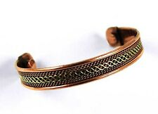 *BEAUTIFUL 2 TONE CELTIC PATTERN COPPER MAGNETIC BRACELET / BANGLE**5**