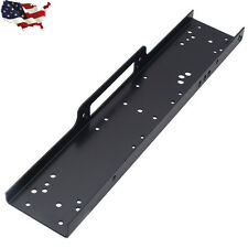 """36"""" Universal Recovery Winch Mounting Plate 13000lb Mount Bracket Trailer Truck"""