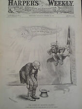 War Tariff The Effect Of Negative Gravity Editorial Harper's Weekly 1888