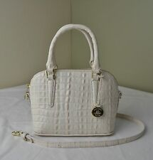 Brahmin Quartz Pink White La Scala Small Dottie Vivian Satchel Crossbody