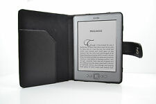 PU Leather Case For Amazon Kindle 4 Wi-Fi 6-Inch w/ Screen Protector - Black