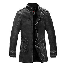 2015 Military Mens Air Force Pilot PU Leather Jacket Coat Locomotive Outwear