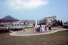 1h AMATEUR 35mm Slide-Photo- Hong Kong- Building- Bus- 1983