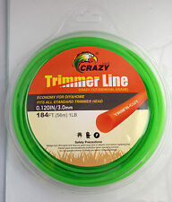 3mm 56 meters 1 LB Trimmer Line, Whipper Snipper cord