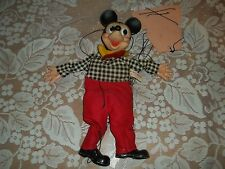 Vintage Walt Disney Productions Gund Mfg. Mickey Mouse Marionette Puppet