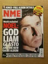 NME AUGUST 9 2008 NOEL GALLAGHER LIAM GALLAGHER OASIS THE KILLERS AC/DC SCRIPT